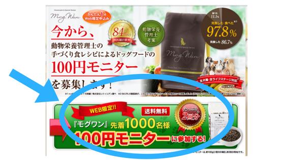 モグワン100円モニターの申し込み方法
